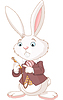 Vector clipart: White Rabbit with pocket watch