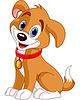Векторный клипарт: Симпатичная собачка