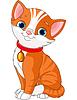 Векторный клипарт: Симпатичная кошка