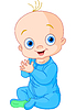 Vector clipart: Cute baby boy clapping hands