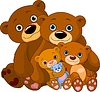 Bear family | Stock Vector Graphics