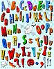 Vector clipart: Comic book alphabet