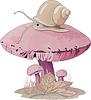 Vector clipart: Mushroom snail