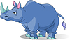 Vector clipart: Cartoon rhino