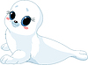 Vector clipart: Baby seal