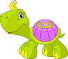Vector clipart: Cute funny turtle