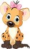 Vector clipart: baby girl hyena