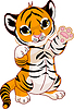 Vector clipart: Cute playful tiger cub