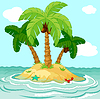 Vector clipart: uninhabited island