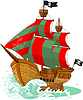 Vector clipart: Pirate Ship