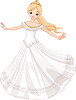 Vector clipart: Dancing princess