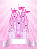 Vector clipart: Pink Castle place card