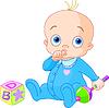 Vector clipart: Sweet baby boy