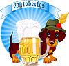 Vector clipart: Oktoberfest dog