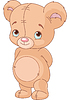 Vector clipart: Cute Teddy Bear