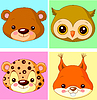 Vector clipart: Animal avatars