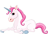 Vector clipart: Adorable unicorn