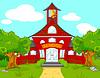 Векторный клипарт: Школа пейзаж