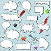 Векторный клипарт: речевые пузыри