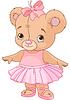 Vector clipart: Cute Teddy Bear Ballerina