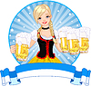 Vector clipart: Oktoberfest girl label