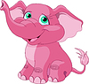 Pink elephant | Stock Vector Graphics