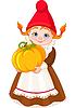 Garden Gnome mit Kürbis