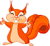Vector clipart: Friendly Squirrel