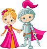 Vector clipart: Medieval Boy and Girl