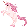 Vector clipart: Magic unicorn