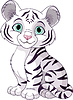 Vector clipart: White tiger cub