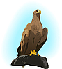Vector clipart: Eagle on the rock