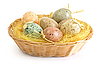 ID 3187869 | Easter eggs in basket | High resolution stock photo | CLIPARTO