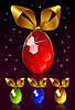 Vector clipart: Jewel egg with golden bow