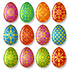ID 3198091 | Set of easter eggs | Stock Vector Graphics | CLIPARTO