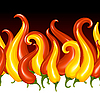 Vector clipart: Red Hot chilli pepper in the shape of fire
