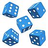 Blue dice set. icon