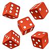 Red dice set