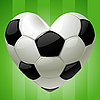soccer ball in the shape of heart
