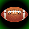 Vector clipart: American football ball
