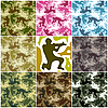 Vector clipart: Camouflage set