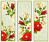 Vector clipart: set of Rose vertical banners