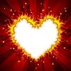 Fiery heart card