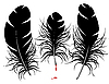 Vector clipart: feather silhouette