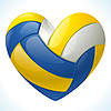 Vector clipart: I love volleyball