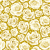 Vector clipart: white Rose seamless background