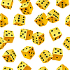 Vector clipart: yellow dice seamless background