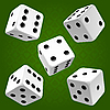 Vector clipart: White dice set