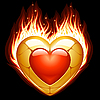 Vector clipart: Jewelry in the shape of heart in fire