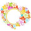Векторный клипарт: Цветочные яркими кадр